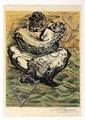 DAVID ALFARO SIQUEIROS, Madre e hijo, de la suite Prison Fantasies, 1968, Firmada. Litografía XX / LXX, 45.7 x 35.3 cm