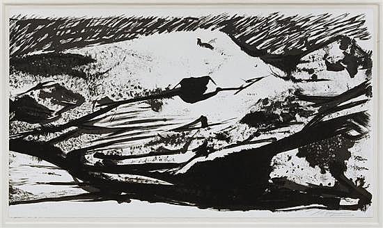 DAVID ALFARO SIQUEIROS, El Canto General IV, Firmada a lápiz. Litografía 164 / 200, 57.5 x 104 cm