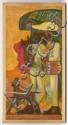 SHINZABURO TAKEDA, Dios nunca muere, Firmado y fechado '89 en Oaxaca. Óleo sobre tela políptico, 100 x 50 cm cada uno. PIEZAS: 10.