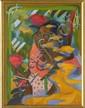 SHINZABURO TAKEDA, Mujer mixteca, Firmado y fechado 89. Óleo sobre tela, 80 x 61 cm