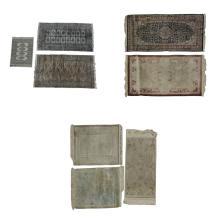 Lote de tapetes. Siglo XX. Consta de: a) Lote de tapetes.  b) Lote de tapetes chinos. Entre otros. Piezas totales: 8