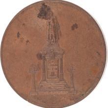 MEDALLA CONMEMORATIVA. MÉXICO, SIGLO XIX. Elaborada en bronce. En el anverso con la leyenda: