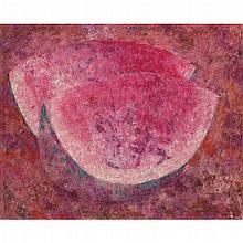BYRON GÁLVEZ, Sin título, Firmado y fechado 93, Óleo sobre tela, 80 x 100 cm, Con dedicatoria al reverso