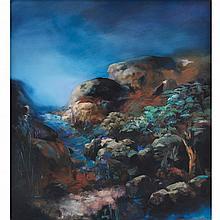 PABLO SZMULEWICZ, Atardecer, Firmado y fechado 97, Óleo sobre tela, 115 x 105 cm, Con certificado del artista