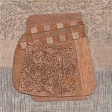 JOSÉ LUIS SERRANO, Alquivisea, Firmada y fechada 79, Silicografía P. A., 60 x 60 cm