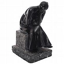 IGNACIO CASTAÑEDA, Sin título, Firmada y fechada 1984, Escultura en mármol, 32 x 16 x 23 cm