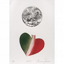 CARMEN PARRA, El corazón del águila, Firmado y fechado 2010, Grabado al aguafuerte y aguatinta P / A, 57 x 28 cm, Con certificado