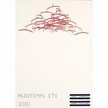 JASON DODGE, Printemps Ete, 2001, Sin firma, Vinyl impreso sobre aluminio, pieza única, 118 x 84.5 cm