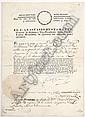 Bustamante, Anastasio. Nombramiento. Palacio del Gobierno federal en México a 24 de Julio de 1830. Firma y sello troquelado.