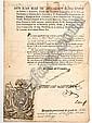 Ruiz de Apodaca y Eliza López, Juan (El Conde del Venadito). Despacho. México: a 24 de Junio de 1821. Con rúbrica y grabado.
