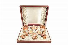 Juego de té. Origen japonés. Estilo Satsuma. En porcelana policromada. Servicio para 6 personas. Decorado con dragones. Piezas: 15