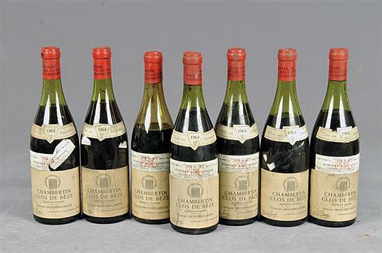 Chambertin Clos de Béze. Cosecha 1964. Drouhin - Laroze. Vino Tinto. Francia. Total de piezas. 7