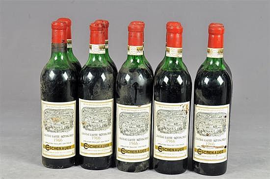 Chateau Lafite Rothschild, Eschenauer. Cosecha 1966. Fauillac. Vino Tinto. Francia. Total de piezas: 10.