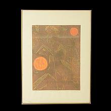 Lote de obras gráficas y pictóricas. Consta de: a) Firmado María Deguchi. Siglo XX. L' été précore. Serigrafía. Otros. 2 pzs