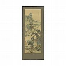 Paisaje oriental. China. Siglo XX. Mixta sobre tela. Enmarcado.