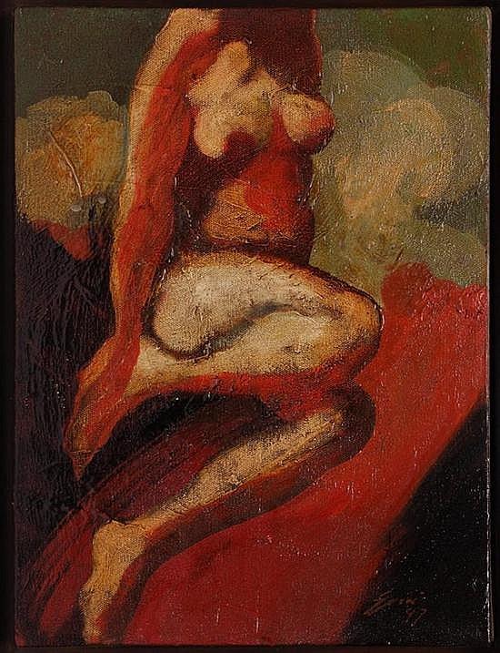 LUCIANO SPANÓ, Cartas a la novia X, Firmado y fechado 97, Óleo sobre tela, 40 x 30 cm, Vo. Bo. Oscar Román, agosto de 2011.