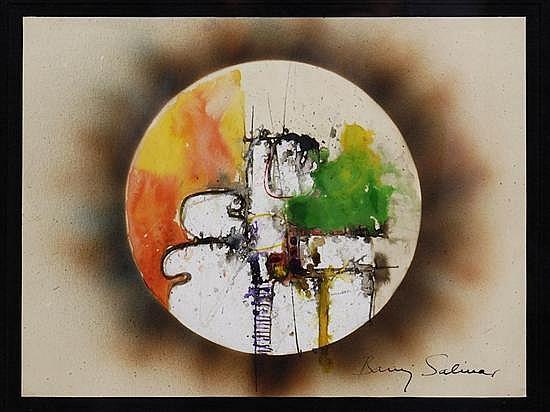BARUJ SALINAS, Sin título, Firmada. Acuarela y tinta sobre papel, 22.2 x 29.3 cm