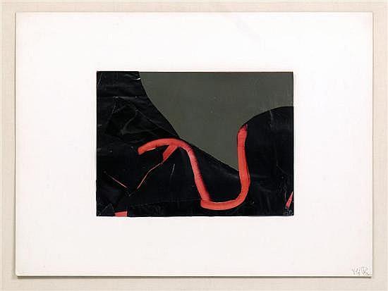 MARÍA JOSÉ PAZ, Desir, 1988, Firmado dos veces. Collage sobre papel. 37.5 x 50 cm