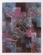 BENJAMÍN, Greca I, Firmada y fechada 94 dos veces al frente. Mixta sobre papel, 49.5 x 38 cm, Con certificado.