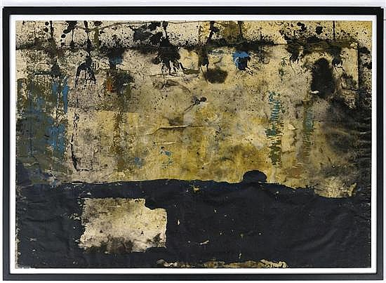 JULIÁN MADERO, Mercado, Firmado. Acrílico y tinta sobre papel. 69 x 99 cm, Con certificado.
