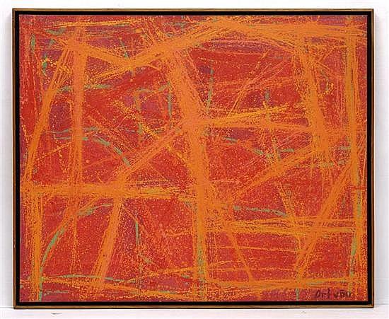 GUSTAVO ESTRADA ORTUÑO, Sin título, Firmado. Óleo y acrílico sobre tela, 99 x 120 cm