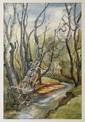 IGNACIO BETETA, Mujer lavando, Firmada y fechada 72. Acuarela y lápiz de grafito sobre papel, 53.5 x 35.5 cm