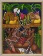GUILLERMO SCULLY, Vendedoras de fruta, Firmado y fechado 1999. Acrílico sobre tela, 40 x 30 cm, Con certificado.