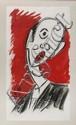 MARQUÉS DE JADRAQUE a) Hombre silbando b) La Siesta c) Hombre con fondo rojo, Acrílico/ papel. Firmados. PIEZAS: 3.