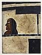 JAVIER ARÉVALO, Rostro, Firmada y fechada Méx. 91. Acuarela y gouache sobre papel, 76 x 56 cm