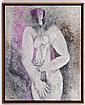 BYRON GÁLVEZ, Sin título, Firmado y fechado 5-1-88. Óleo sobre tela, 100 x 80 cm, Con certificado.
