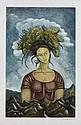 RAÚL ANGUIANO, Sin título, Firmado y fechado 86. Grabado P / A, 68 x 42.5 cm