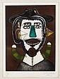 JAVIER ARÉVALO, Personaje, Firmado y fechado Mex. 90. Grabado P / A, 39 x 29 cm