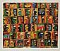 JAVIER ARÉVALO, Caras y más caras, Firmada y fechada París 94. Litografía P / A, 71 x 85 cm