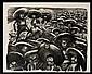 JOSÉ CLEMENTE OROZCO, Zapatistas, 1935, Firmada a lápiz. Litografía 90 / 130, 33 x 41.5 cm