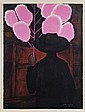 GUSTAVO MONTOYA, Vendedor de algodones, Firmada y fechada 85. Litografía 59 / 100, 76 x 56 cm