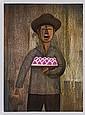 GUSTAVO MONTOYA, Vendedor de dulzura, Firmada y fechada 84. Litografía 30 / 100, 76 x 56 cm