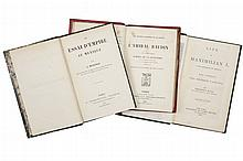 Graviere, Jurien de la./ Masseras, E. / Hall, Frederic. L'amiral Baudin / Un essai d'empire au Mexique / Life of Maximilian...Piezas.