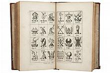 Fisher, Payne. A Synopsis of Heraldry. London: L. Curtis and T. Simmons, 1682. Frontispicio + 37 láminas.