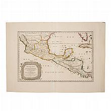 Sanson, Nicolás. Mexicque, ou Nouvelle Espagne, Nouvelle Gallice... Paris: 1656. Mapa grabado con límites coloreados, 38 x 56 cm.