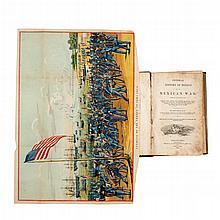 Frost, John. Pictorial History of Mexico and the Mexican War. Philadelphia: 1849. Frontispicio en color más 32 láminas (6 en color).