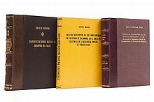 Millares Carlo, Agustín / Duclas, Robert / Guzmán, Eulalia. Repertorio Bibliográfico / Catálogo Descriptivo de los Libros... Pzas: 3.