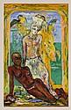 JOSÉ GARCÍA OCEJO, Egipto, Firmado y fechado 94. Temple sobre masonite, 56 x 39 cm, Con certificado de autenticidad del artista.