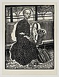 ANGELINA BELOFF, La viejita en el camión, 1955, Sin firma. Grabado en linóleo, edición póstuma, 26 x 20 cm