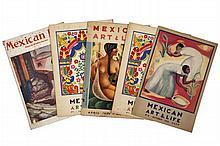 Mexican Life (5) / Mexican Art & Life (6) / Mexican Folk- Ways (2). Numeros  y años varios.  Mexico: 1934 - 1959. Piezas: 13.