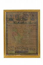 Ensigns & Thayer. Ornamental Map of the United States & Mexico. New York: 1848. Mapa que celebra la victoria de los E. U. sobr México.