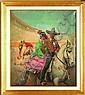 Carlos Ruano Llopis (1878 – 1950) Charro y china (Paseo por el ruedo) Escuela española Firmado Óleo sobre lienzo 105 x 90 cm.