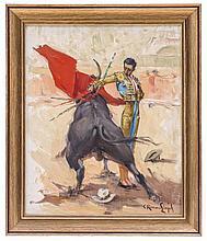 CARLOS RUANO LLOPIS (ESPAÑA, 1878 - 1950) REMATE DE MANUEL RODRÍGUEZ