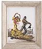 CARLOS RUANO LLOPIS (ESPAÑA, 1878 - 1950) BAILADORES. Óleo sobre tela. Firmado. Dimensiones: 49 x 39.5 cm