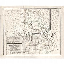 VAUGONDY, ROBERT. CARTE DE LA CALIFORNIE ET DES PAYS NORD OUEST SEPARÉS DE L'ASIE PAR LE DETROIT D'ANIAN. Paris: 1772.