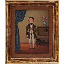 PAR DE INFANTES MÉXICO, SIGLO XX. Óleo sobre tela. Detalles de conservación, reentelados. Dimensiones: 48 x 38 cm, cada uno.
